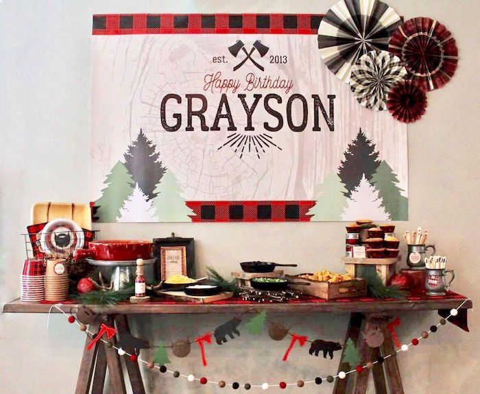 Little Lumberjack Birthday Party on Kara's Party Ideas | KarasPartyIdeas.com (1)