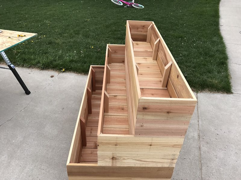 How to Build a Tiered Garden Planter Box -   23 deck garden boxes ideas