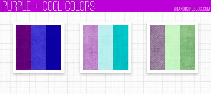 using purple - purple hues