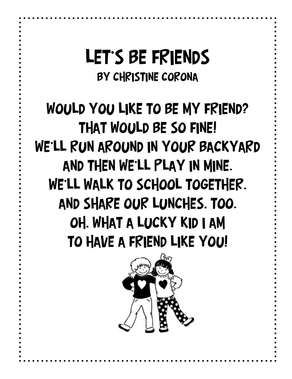 Friendship Poems Short Poems About Friendship Best Friend Poem