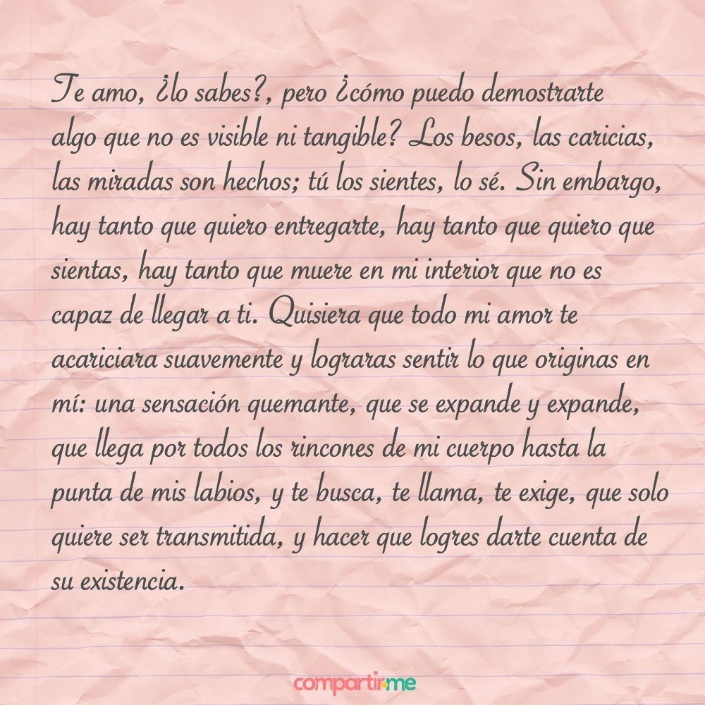 Te Amo Lo Sabes Fracesillas Pinterest Amor Cartas De