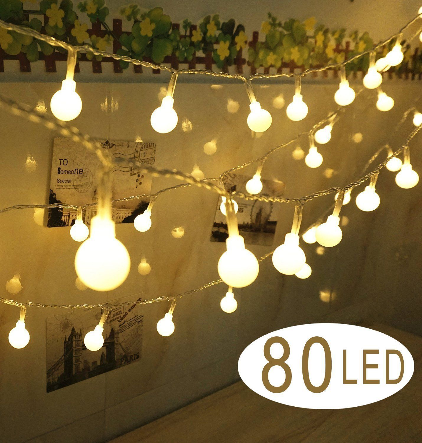 Decorative Indoor String Lights Fair Fourheart Globe String Lights 80 Balls 39Ft12M Usb Powered Long Design Decoration