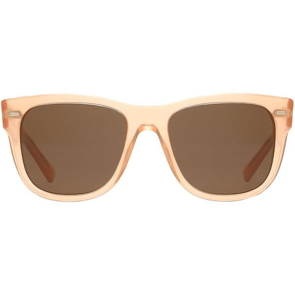 Dolce & Gabbana Dg4223 55 Orange Square Sunglasses ($237) ❤ liked on Polyvore featuring accessories, eyewear, sunglasses, oval glasses, dolce gabbana eyewear, summer sunglasses, square frame glasses and oval sunglasses