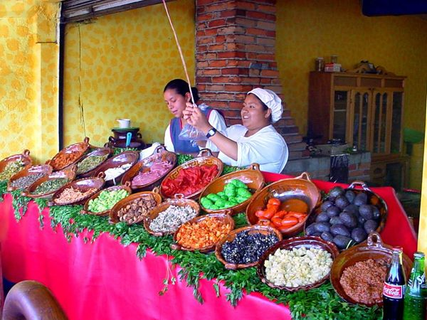 local color and culture in our local market in Jilotepec mexico