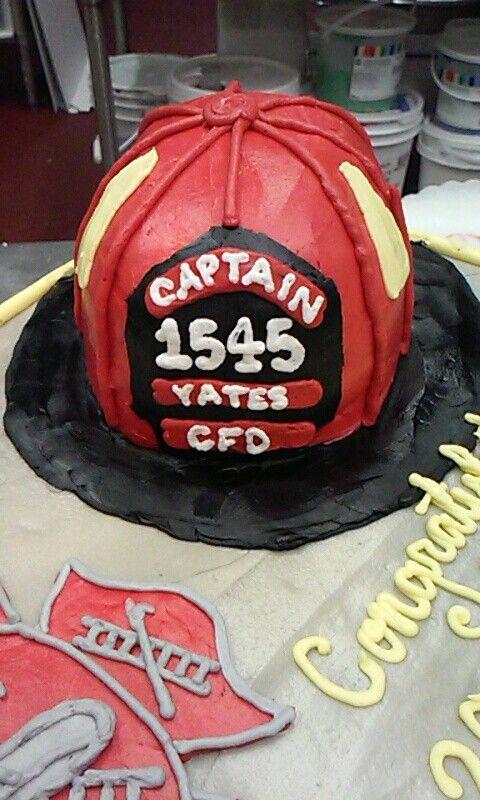 Firefighter Retirement cake: helmet