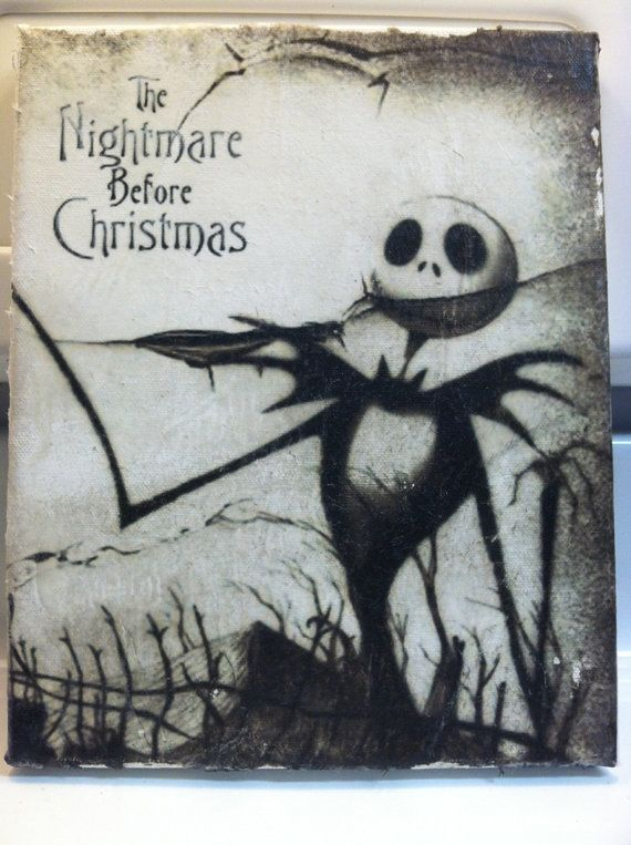 jack skellington 8x10 canvas print by mmgraphics619 on etsy