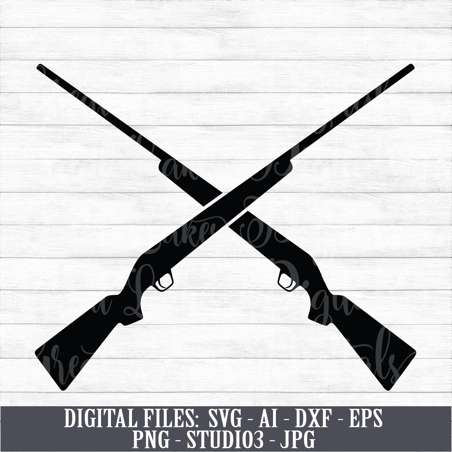 Crossed Hunting Rifles Digital Download Instant Download Svg Ai Dxf Eps Png Studio3 And Jpg Files Included Digital Hunting Rifles Digital Download