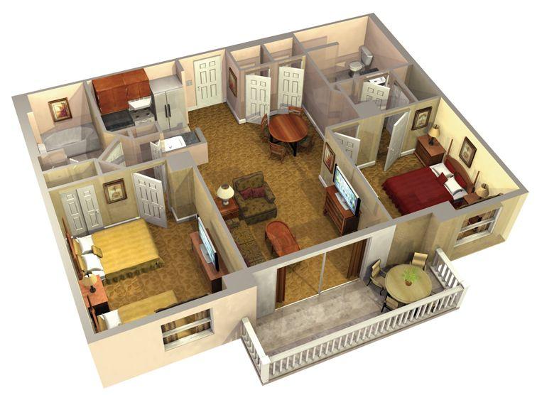 Lake Eve Resort Three-Bedroom Resort Suite (1464 sq ft) - Sleeps