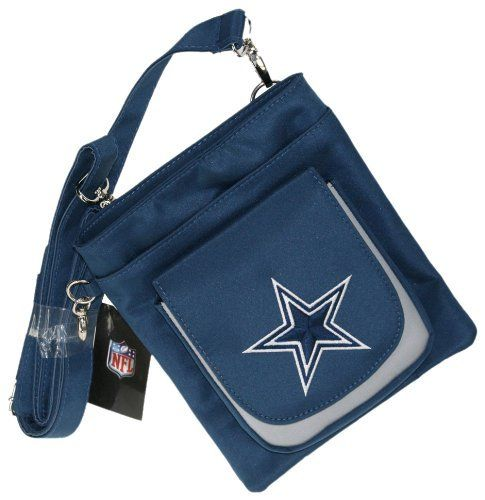"NFL Dallas Cowboys Traveler Bag by Charm14. $19.32. Durable Micro-Fiber Allows for Easy Cleaning. Embroidered Team Logo Traveler Bag. Measures 6.5"" W x 7.75"" H x 2.5"" D. Includes Thick Strap to Wear over Your Shoulder or Around Your Waist. Also Known as Hipster Bag can be Fashionably worn around Hips. NFL Dallas Cowboys Traveler Bag"