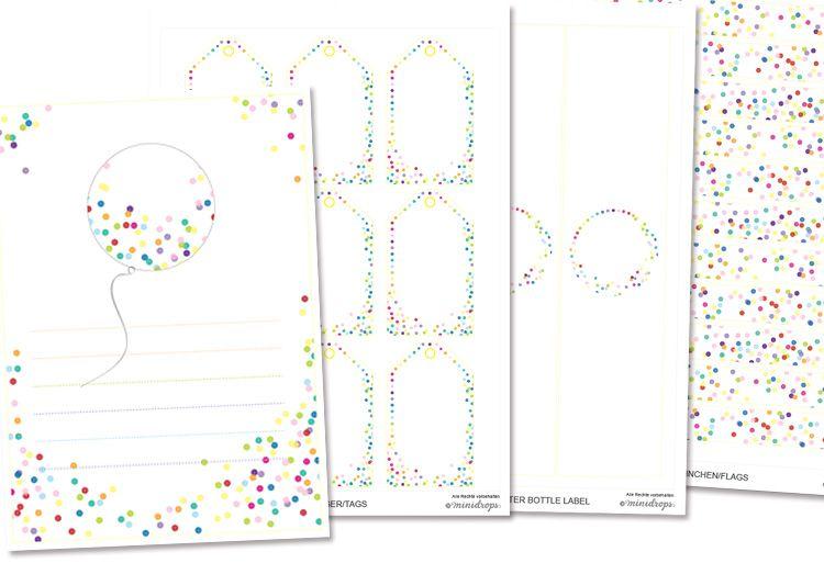 konfetti  kunst party  printables  kunst party