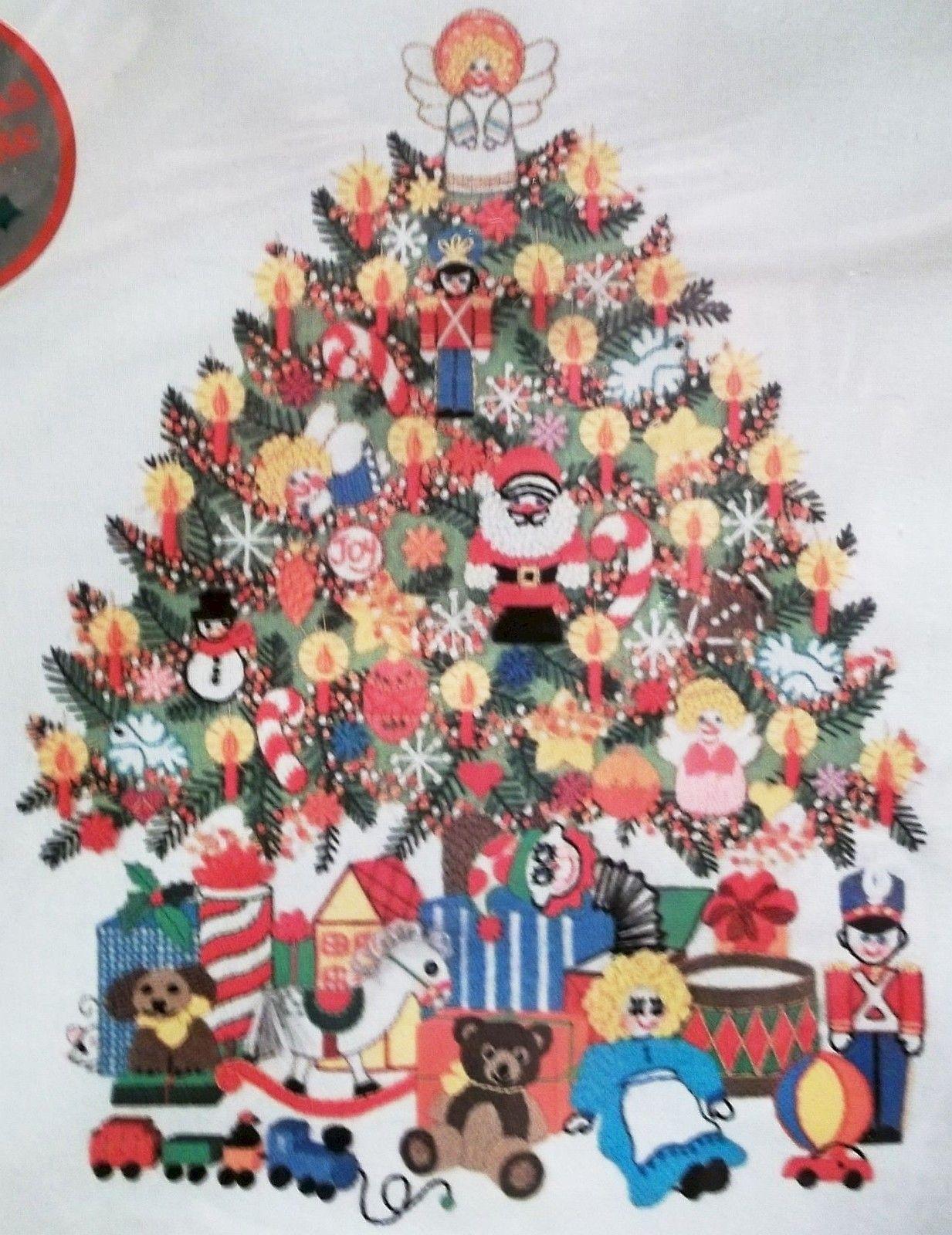 For Sale NEW Vintage 1978 Sunset Stitchery Christmas Tree Fantasy