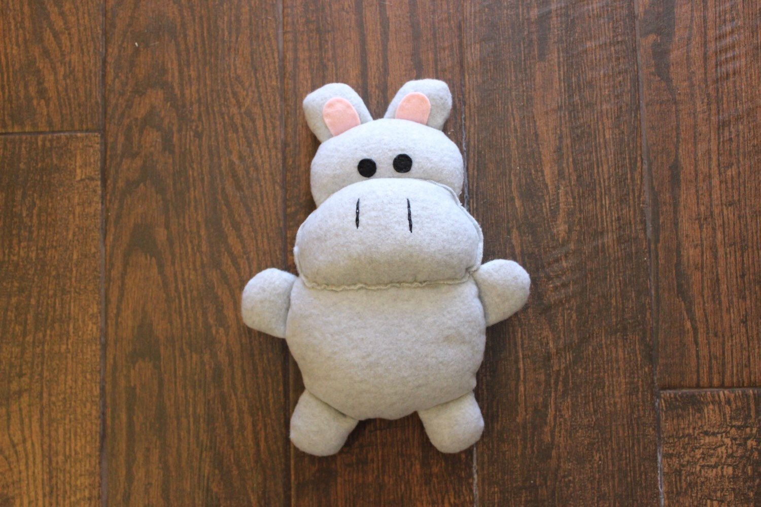 Plush Gray Fleece Hippo By Uniqueextras On Etsy Https