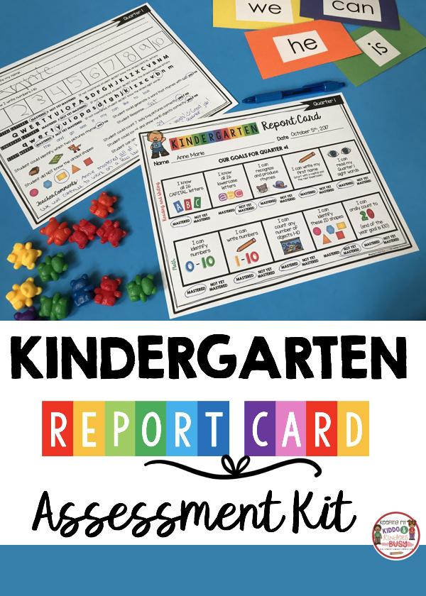 Kindergarten Report Card And Assessment Kit Freebie Keeping My Kiddo Busy Kindergarten Report Cards Kindergarten Assessment Kindergarten Organization