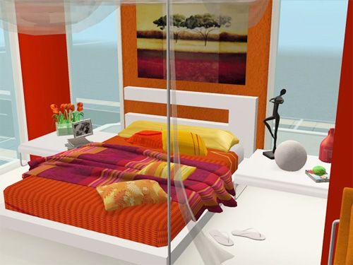 Orange Bedroom 16