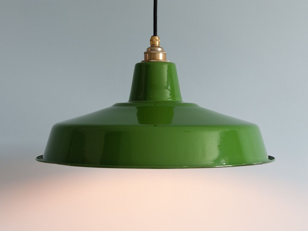 93ab88a6aee9 Vintage Style Enamel Industrial Green Lamp Shade | Home | Green lamp ...