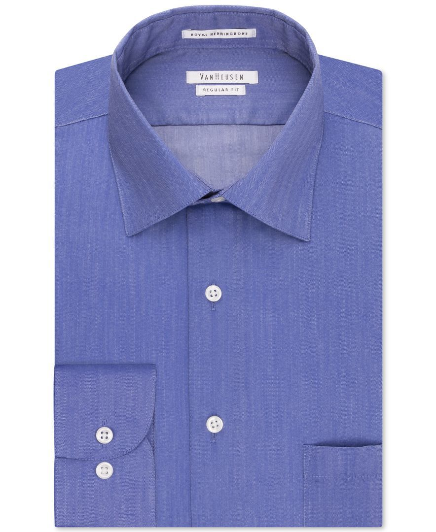1381db3a5e0a Men's Classic-Fit Herringbone Dress Shirt | Products | Fitted dress ...