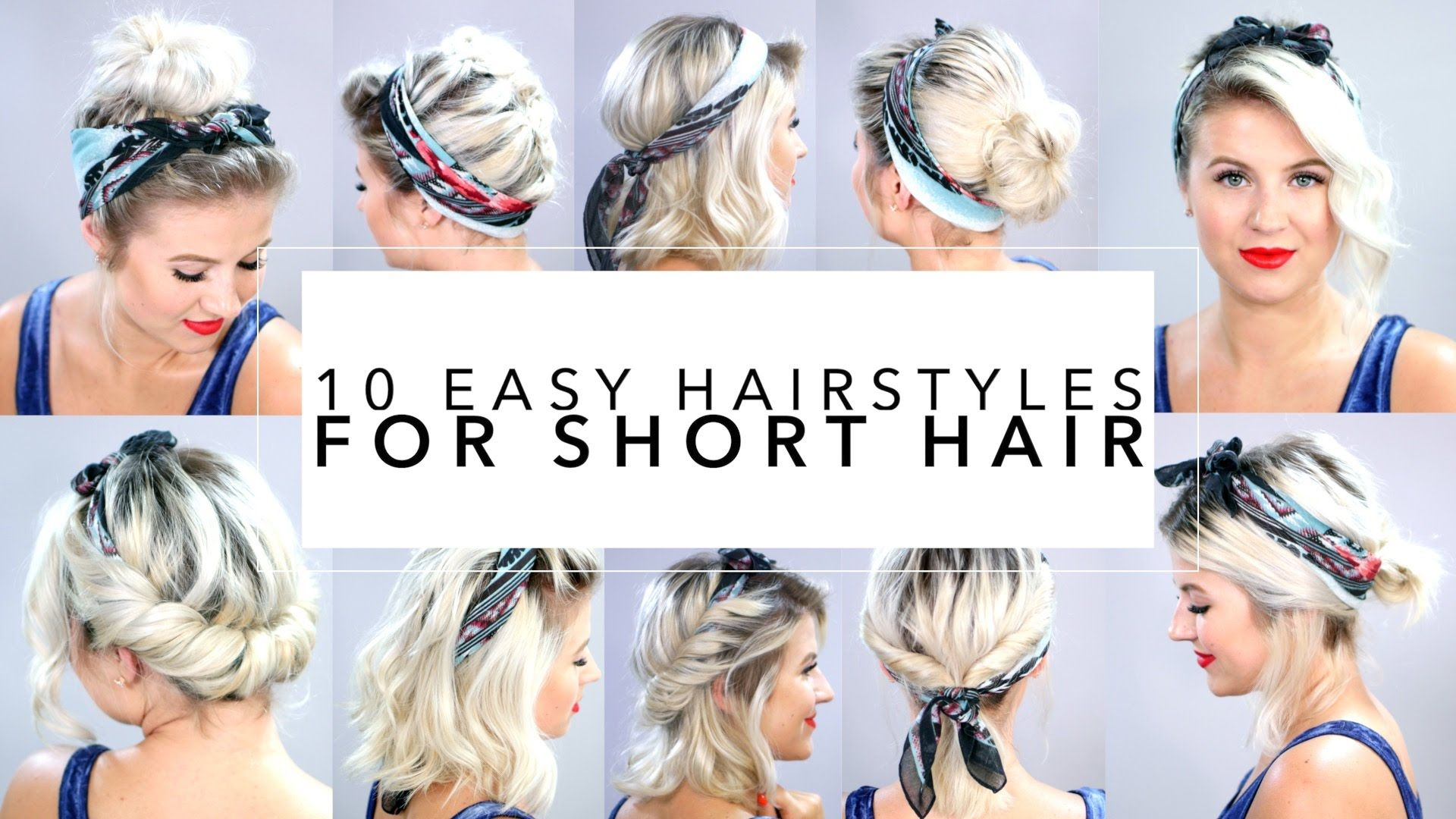 10 Easy Hairstyles For Short Hair With Headband Milabu Short Hair Styles Easy Hair Styles Short Hair Tutorial