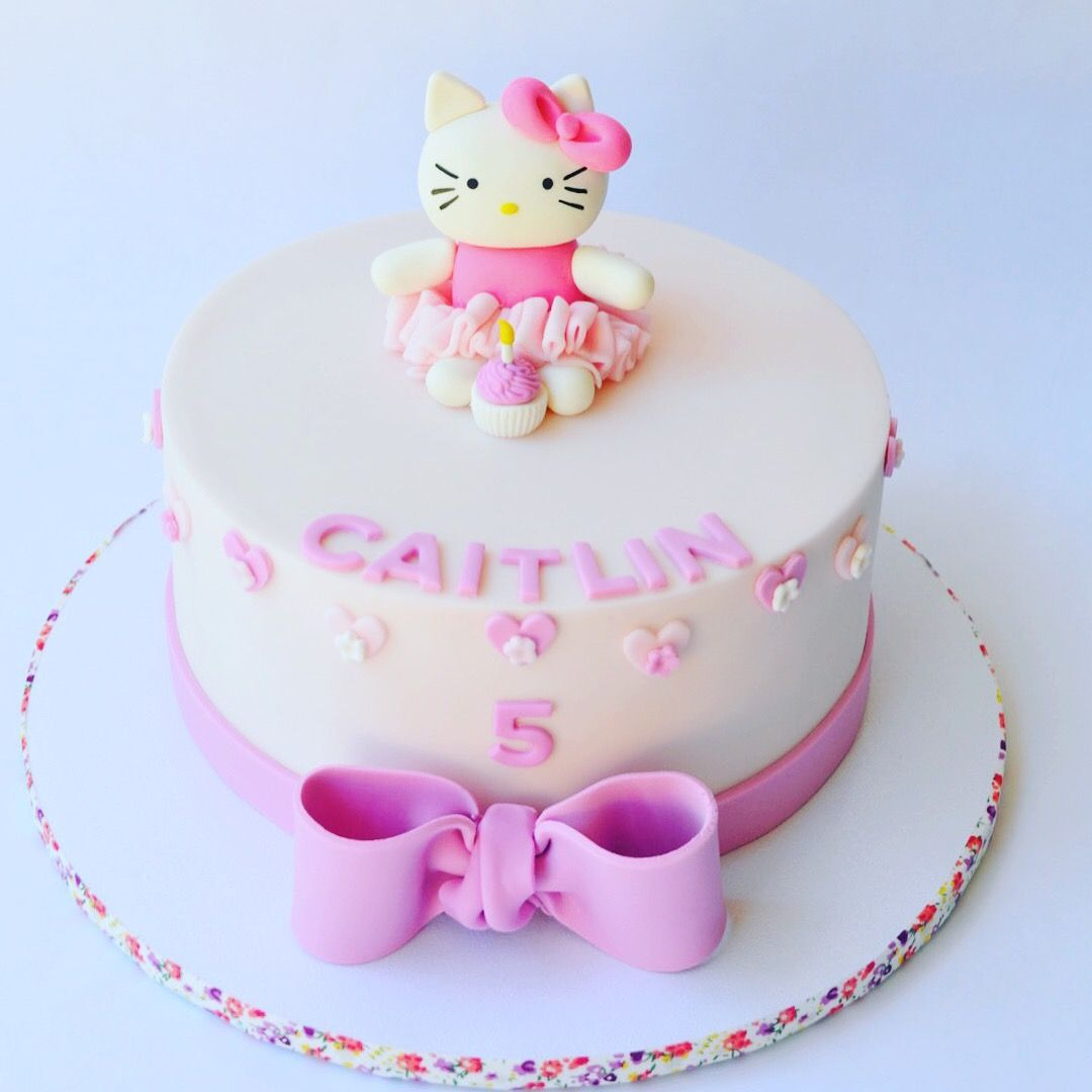 Hello Kitty Birthday Cake Custom Cakes Pinterest Hello Kitty