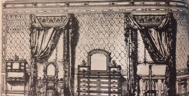 Modèle d\u0027une chambre a coucher composé et dessine pour la revue des - modele chambre a coucher