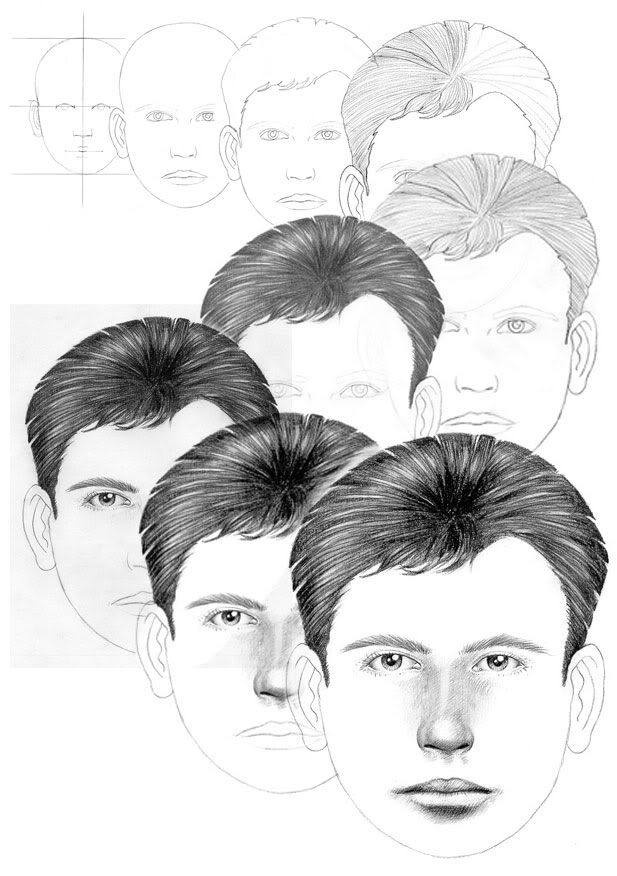 Drawing a face tutorial part 1 face outline by jan szymczuk redbubble