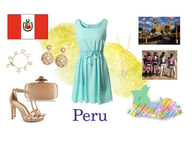 """""""World - Peru"""" by cardissa on Polyvore featuring Oscar de la Renta, Tory Burch, Brooks Brothers and Elizabeth and James"""