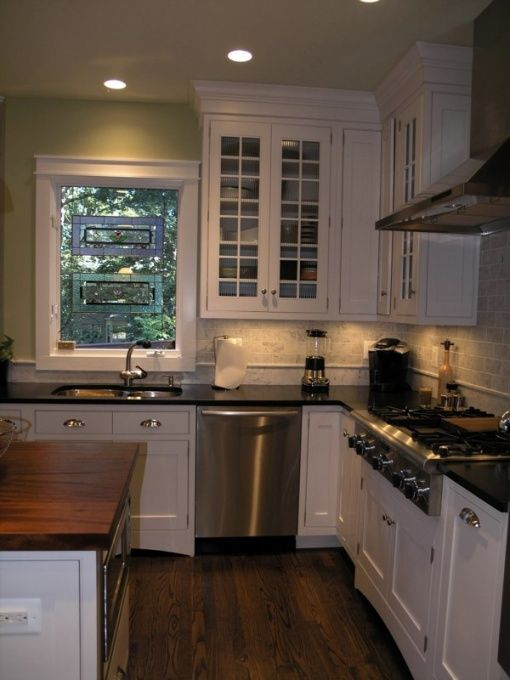 Negresco Honed Leathered Granite For Perimeter Kitchen Kitchen White Kitchen With Honed Granite And Mahogany, White