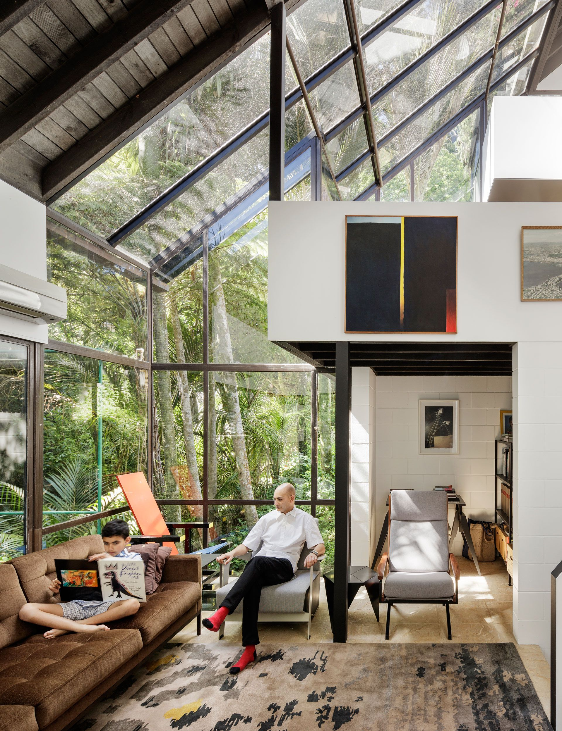 An incredible treetop home by architect claude megson is gently