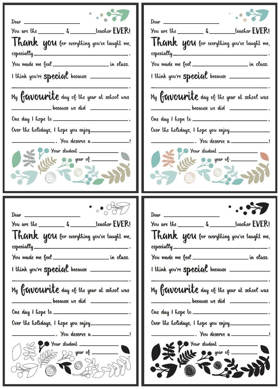 Dear Teacher Letter  Great For End Of School  BackSchool