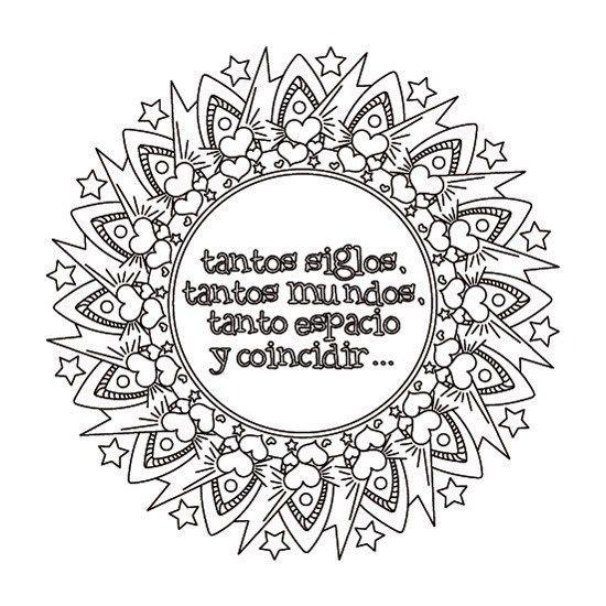 Mandalas de Amor para Imprimir PDF Gratis - Mandalas con Frases ...