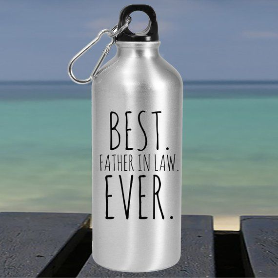 Best Father In Law Ever Large Water Bottle Fathers Day Gift Dad