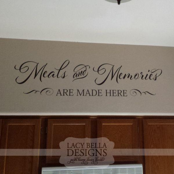 kitchen wall decal quote vinyl lettering design font script unique - paredes con letras