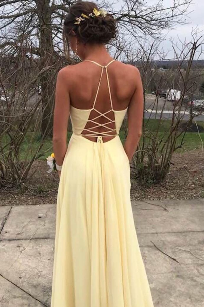 Charming V Neck Low Back Yellow Long Prom Dress Party Dress, Long Homecoming Dress,SF0102 - Trendy prom dresses, Prom dresses yellow, Hoco dresses, Prom dresses long, Long prom dress, Formal dresses - cm Occasion Date          3, How to Order Step1 click on  Add to Cart  Step 2 choose check out Step 3 fill your Standard size or Custom size,to make perfect fit,we suggest fill your custom size,please read  How to Measure  Step 4 Check Out,and write your detail shipping information including shipping phone no  4, Delivery time Rush order within 15 days, please add $30 00, Standard Total time 2232 days Processing time 1522 business days Shipping Time 37 business days 5, Shipping by Fedex,DHL,UPS,and so on 6, Payment Paypal 7,Customers Need To Know  All of the dresses are not  on the shelf  We strongly recommend you to select  Custom Made  to ensure the dress will fit you when it arrives  Our tailors will craft each dress to order even for a standard size