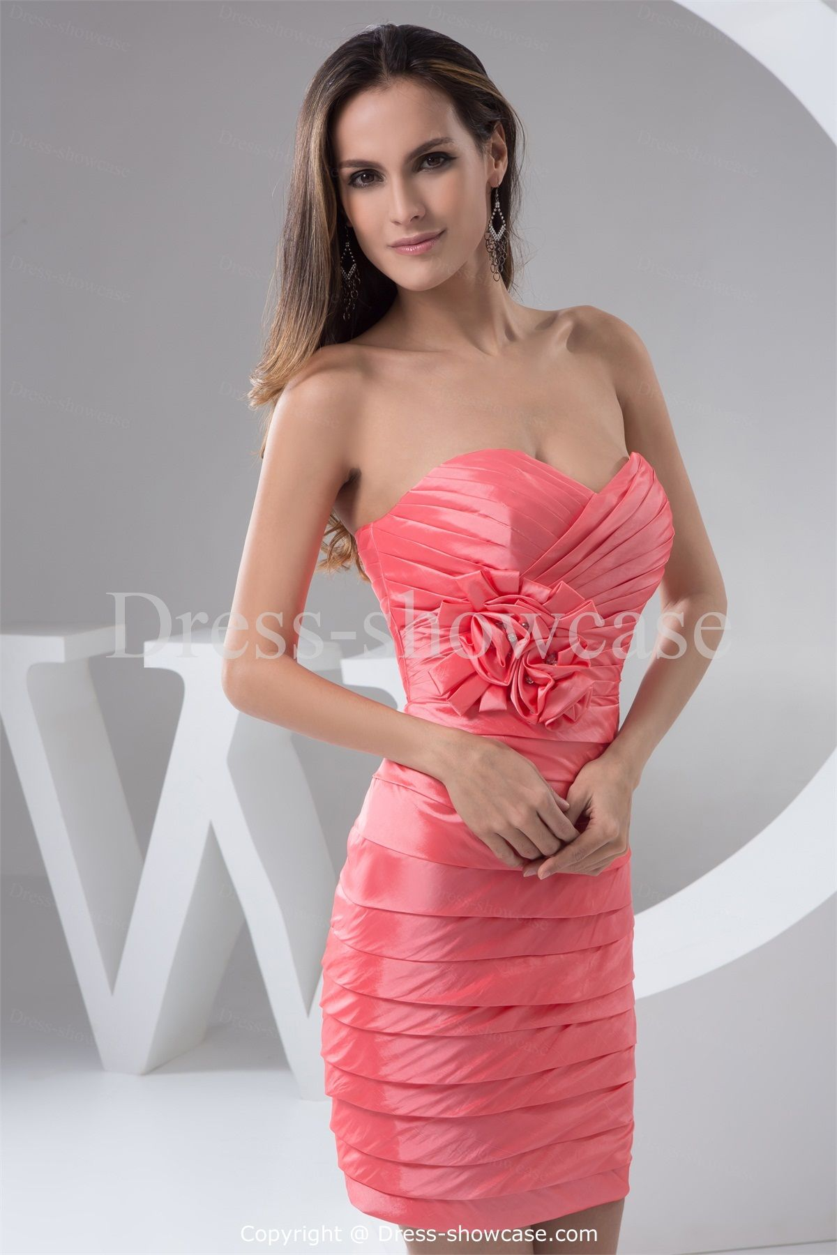 Short Taffeta Sweetheart Party Dress -Special Occasion Dresses US ...