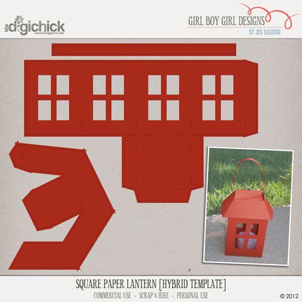 Square Paper Lantern [hybrid template] | Paper, Paper, Paper | Paper