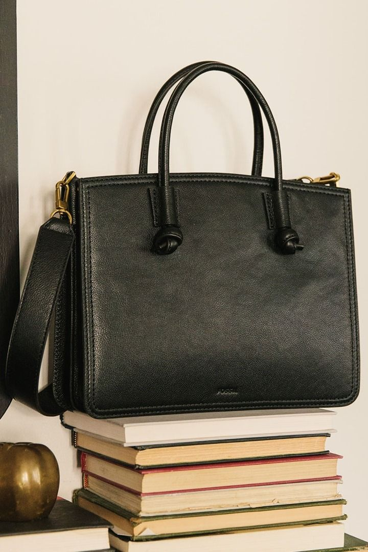 The Black Skylar Leather Satchel Stacks Up To Any