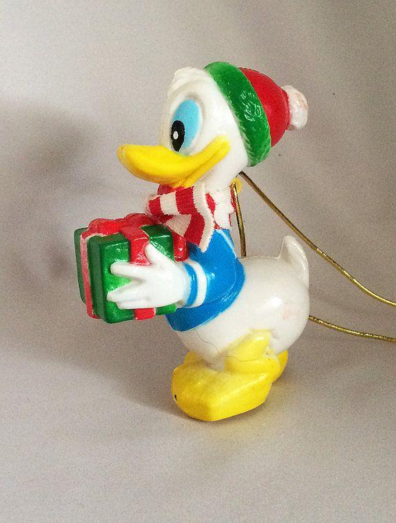 Vintage Disney DONALD DUCK Christmas Ornaments, Vintage Donald Duck  DISNEYANIA Collectibles, Mid Century Hard Plastic Christmas Ornaments . - Vintage Disney DONALD DUCK Christmas Ornaments, Vintage Donald Duck