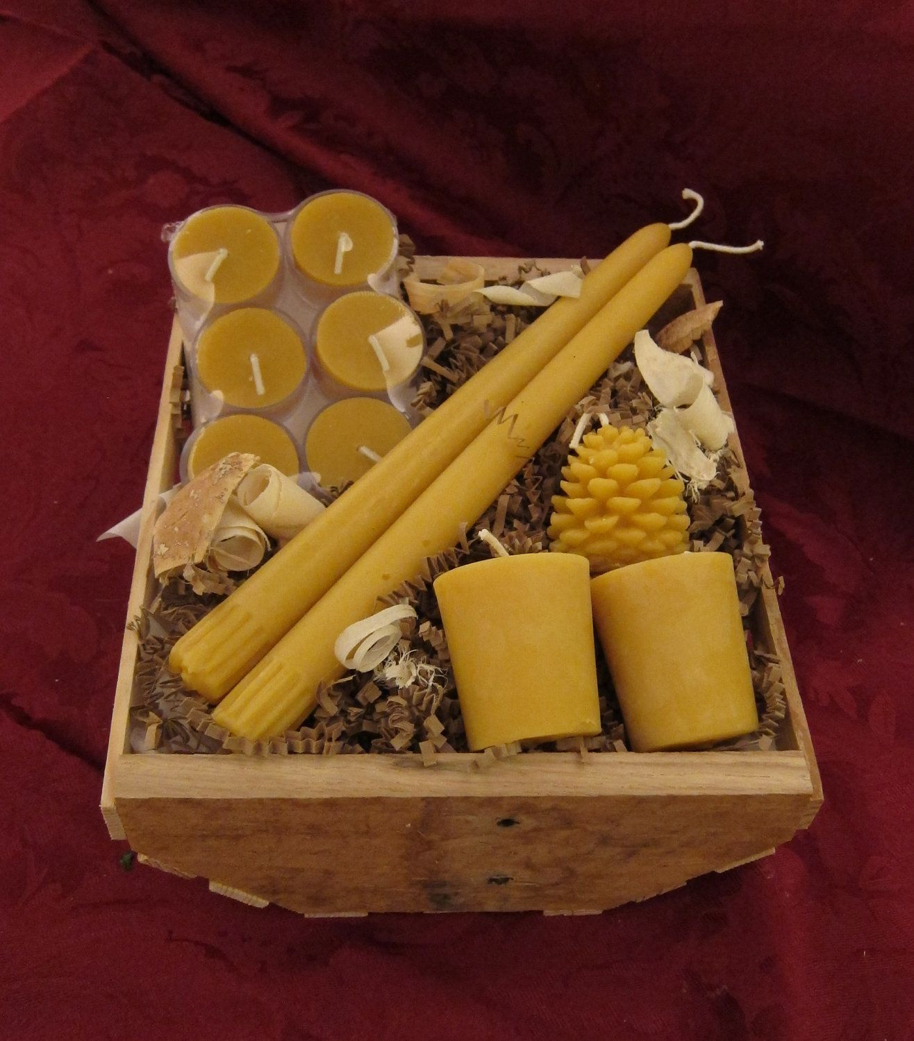 Candle lovers gift basket beeswax candles 2399 via
