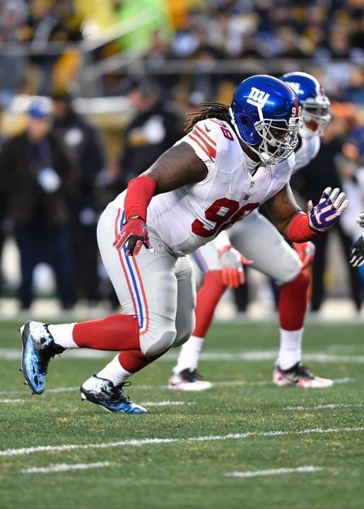 Giants vs. Redskins (Round 2) - Giants DT Damon Harrison making some impressive moves. (1/1/17)