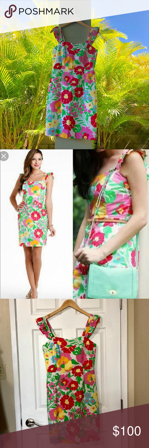 13b690173524a9 GUC Lilly Pulitzer Sarafina Dress Missing the eye catch for the hook  otherwise this dress is