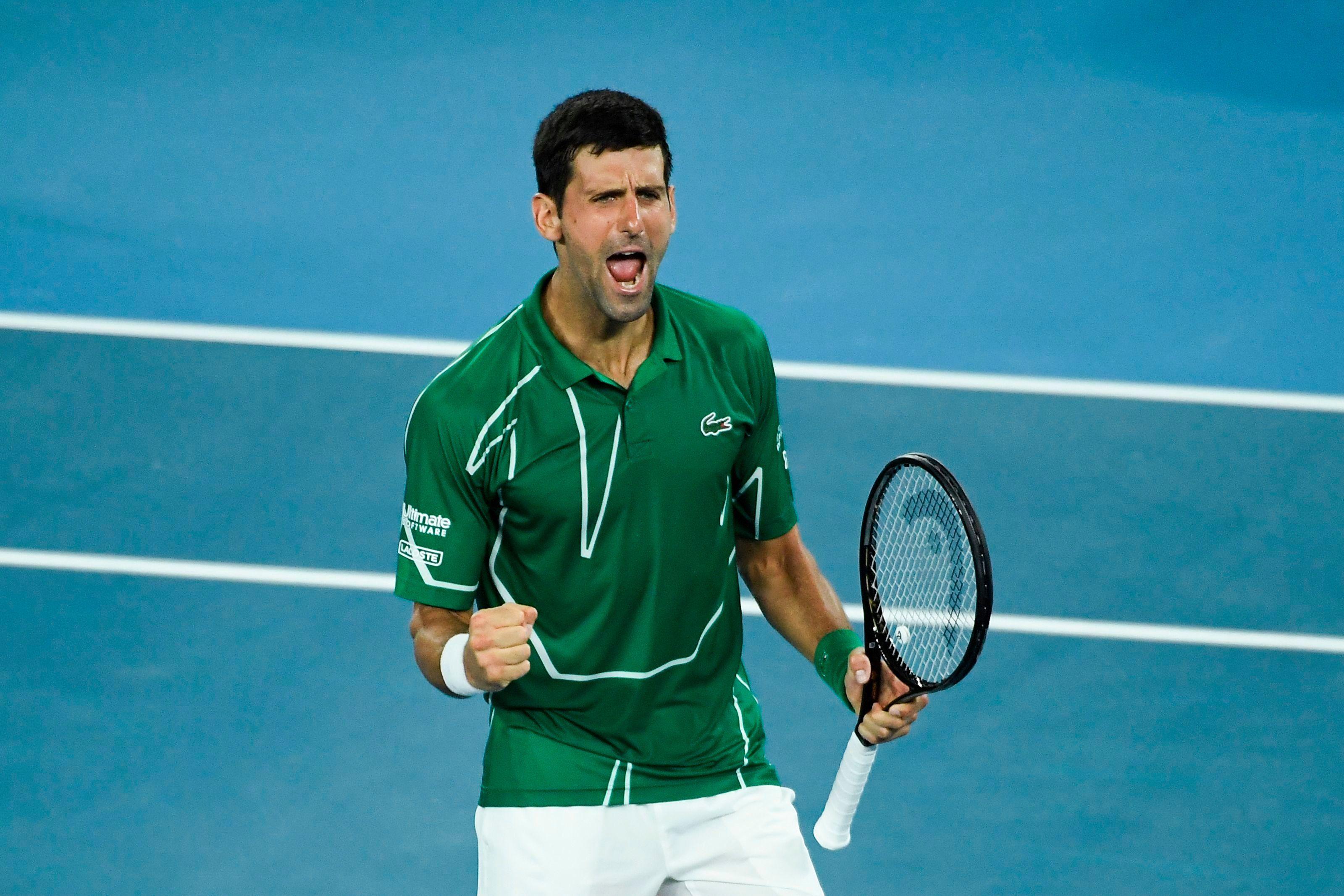 Novak Djokovic Outlasts Roger Federer To Stay Dominant In Australia In 2020 Novak Djokovic Roger Federer Wimbledon Final