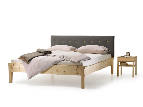 bett alpina mit polsterbetthaupt in 2019 wohnen zirben. Black Bedroom Furniture Sets. Home Design Ideas