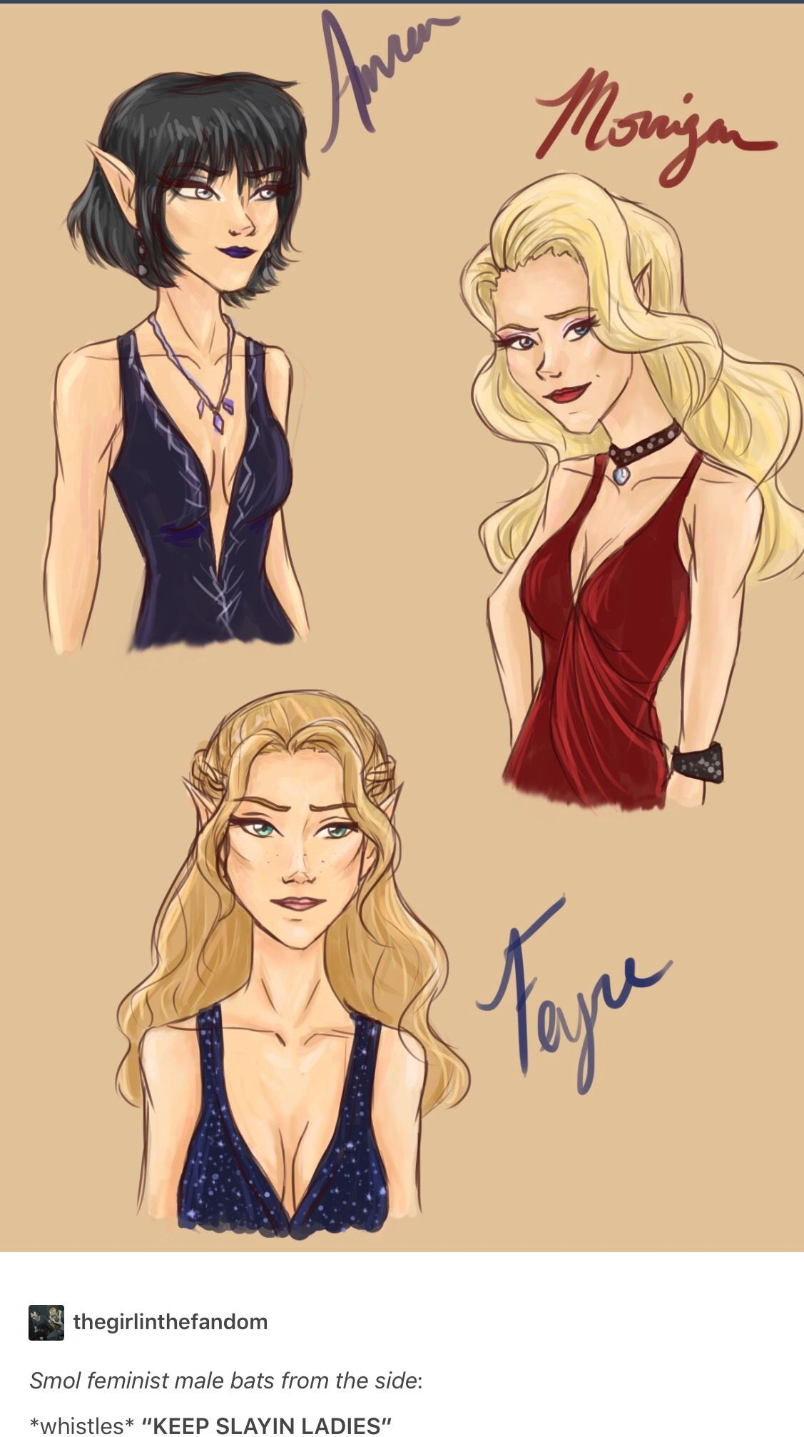 Amren Mor And Feyre A Court Of Mist And Fury A Court Of Wings