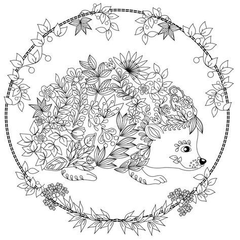 Cute Hedgehog Coloring Page Design Ms Animal Coloring Pages Coloring Pages Coloring Books