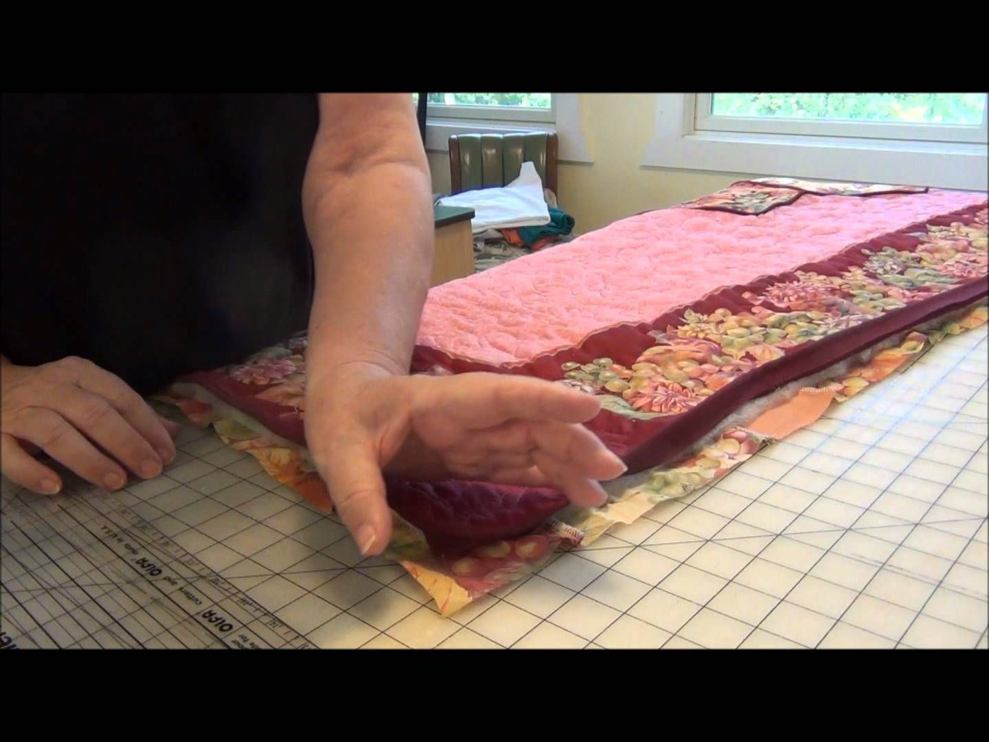 How to bind a quilt with cording via youtube with