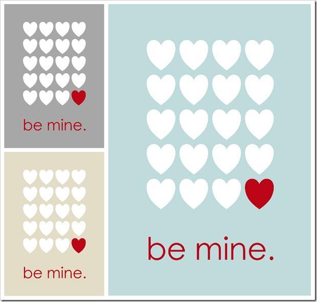 Be Mine - free printable