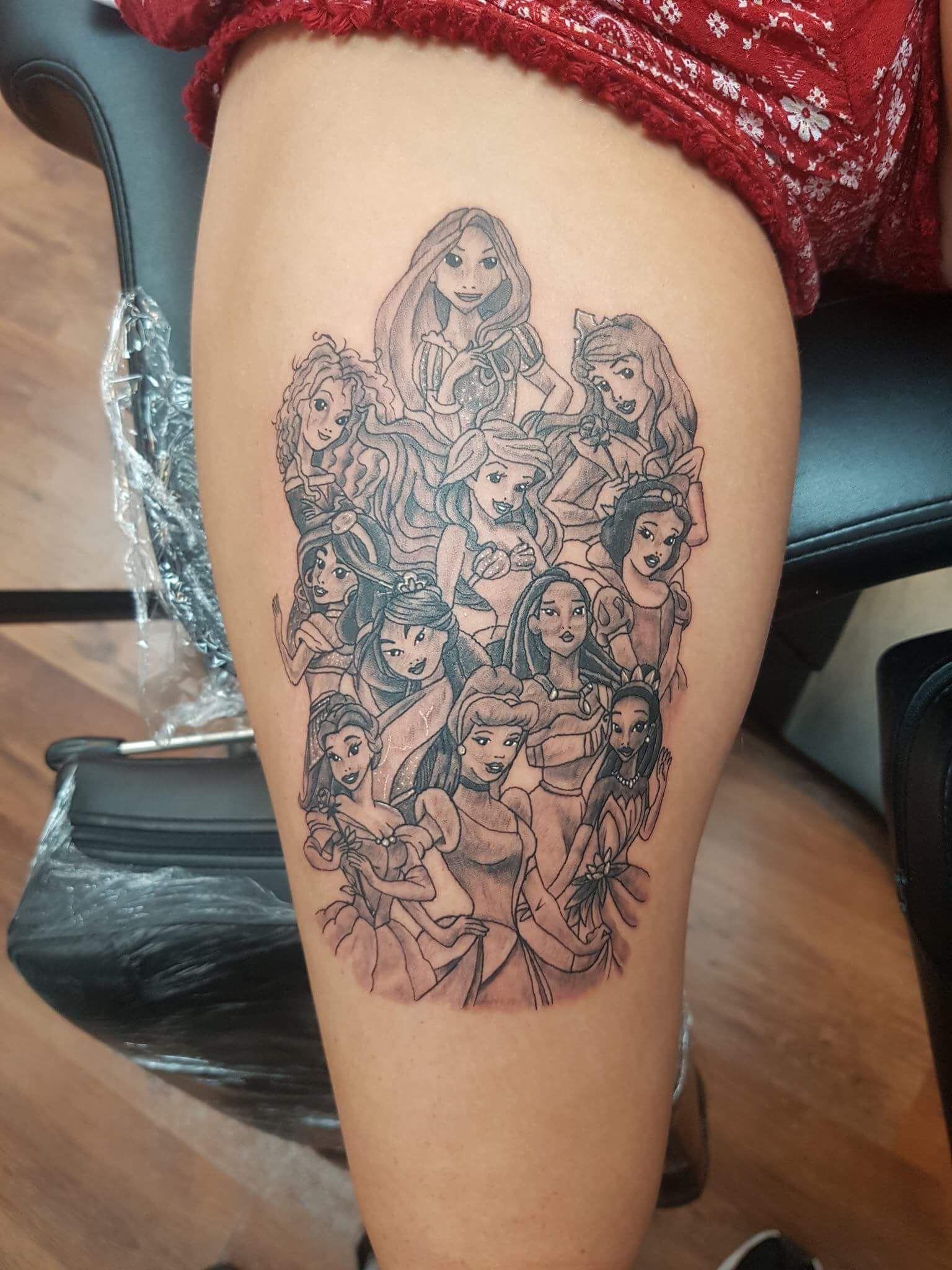 Disney sleeve has started 👸🏼   Disney sleeve tattoos, Tattoos ...