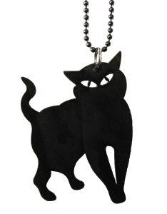 Kierrätetty LP Miaow ketju musta LP jewelry