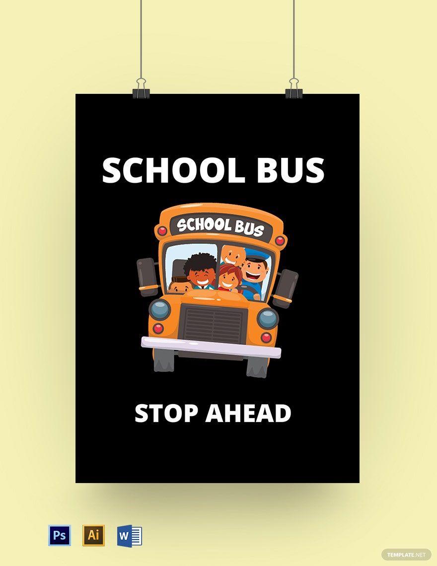School Bus Sign Template Illustrator Word Psd Template Net Teacher Door Signs Sign Templates Teacher Doors Stop sign template microsoft word