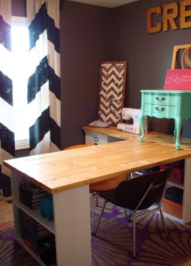 eckschreibtisch selber bauen ideen anleitung holzplatte regale ikea kreativkinderschreibtisch. Black Bedroom Furniture Sets. Home Design Ideas