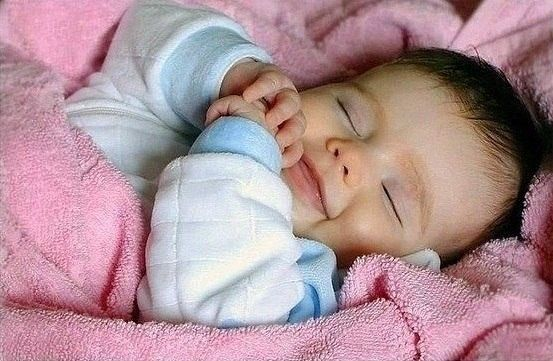 When A Sleeping Baby Smiles Its The Angels Making Herhim Smile